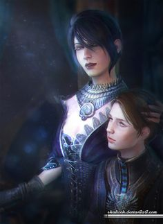 Fanart of Morrigan and Kieran from Dragon Age Inquisition.Hope you'll like the picture and no using it without my permission.