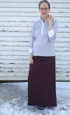 Took two unwearable things and refashioned them into a jumper to maternity skirt refashion. See all the great maternity refashions and skirts. Maternity Skirts, Refashion, Jumper, Sewing, Diy, Style, Swag, Dressmaking, Couture