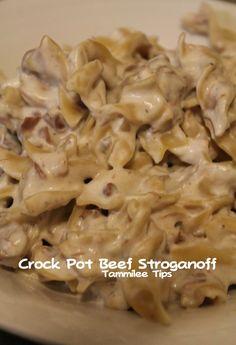 Crock Pot Beef Stroganoff Recipe - Tammilee Tips