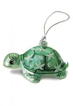 'Honu Turtle' Glass Ornament - Ready to Swim from Hula Island to Your Christmas Tree, the New Honu Turtle Glass Christmas Ornament. Beautifully Luminescent the Honu Turtle Christmas tree ornament. Tropical Christmas, Coastal Christmas, Beach Christmas, Turtle Time, Turtle Figurines, Glass Christmas Ornaments, Christmas Tree, Green Christmas, Christmas Balls