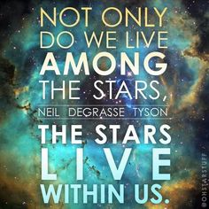 We come from STARDUST. That's a big responsibility. Act accordingly.