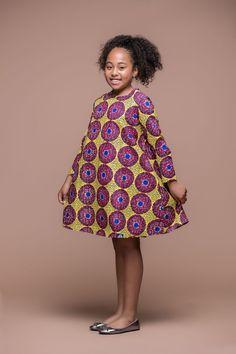 Agatha Kid's Dress | African Clothing For Children | Grass-fields