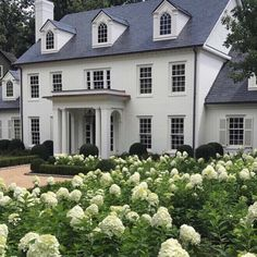 la maison Exterior Inspiration - The Father Of The Bride House - Lauren Nelson Colonial House Exteriors, Colonial Exterior, Design Exterior, Exterior Colors, Classic House Exterior, Colonial House Plans, Modern Colonial, Casas California, White Houses
