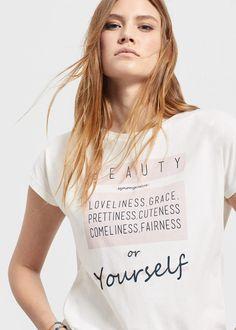 Camiseta algodón mensaje -  Violeta   Violeta by MNG Colombia