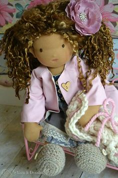 Paris by Roses for Rachel May 2014 Raggy Dolls, Diy Doll, Doll Clothes, Roses, Crochet Hats, Sewing, Cute, Crafts, Tela