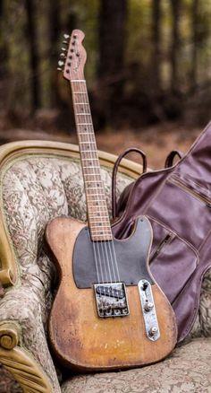 Why Fender Telecaster as a Jazz Instrument? Vintage Telecaster, Fender Stratocaster, Telecaster Custom, Fender Guitar Case, Fender Electric Guitar, Vintage Electric Guitars, Vintage Guitars, Fender Custom Shop, Custom Guitars
