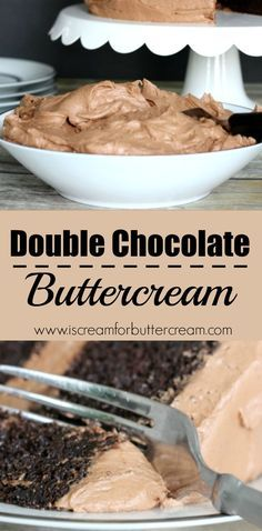 Double the chocolate means double the goodness. This buttercream is rich, creamy and super chocolaty. via @KaraJaneB