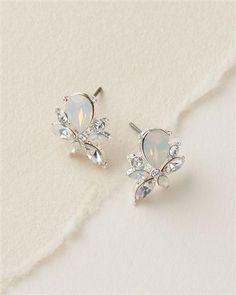 Opal Cluster Stud Earrings