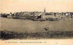 Saint Malo Ille et Vilaine France 1906 Great Bay High Tide Town View Postcard