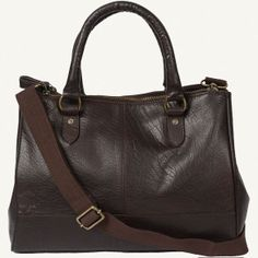 Laura Leather Three Section Bag at Fat Face