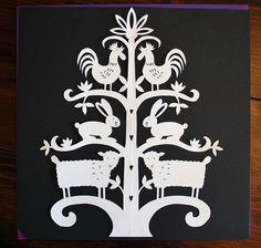 Otomi inspired papercut