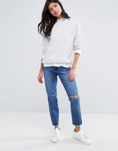 Missguided | Missguided Riot High Rise Stepped Hem Skinny Jean at Asos