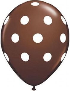 11'' Big Polka Dots -Chocolate Latex Balloon (50ct)