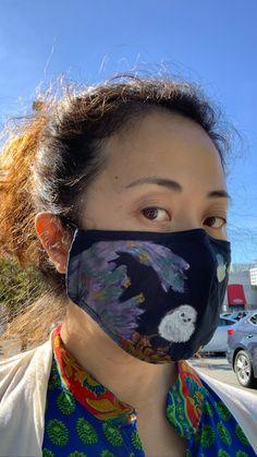 #handpaintedmask #artist #handpaintedmasks #mask #masks #artwork #madetoorder #customorder #fabricpainting #fabricart #paintedmask #fabricmask Fabric Painting, Fabric Art, Cute Creatures, Masks, Hand Painted, Abstract, Artist, Artwork, Style