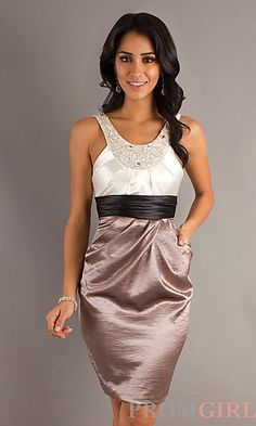 Short Semi Formal Dress at PromGirl.com