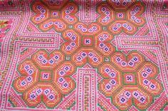 Hmong Vintage baby carrier textiles de tapisserie par dellshop