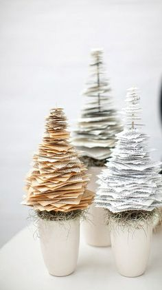 Beautiful paper trees. Gloucestershire Resource Centre http://www.grcltd.org/home-resource-centre/