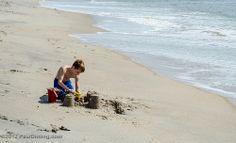 Boy Playing In The Sand- Edisto Beach, SC
