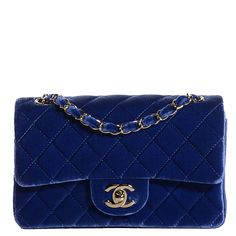This is an authentic CHANEL Velvet Quilted Rectangular Mini