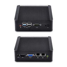 Qotom Barebone Mini Computer PC Nano Mini itx J1900 ubuntu, linux  Mini PC Dual Lan Fanless Pfsense Firewall Router nettop