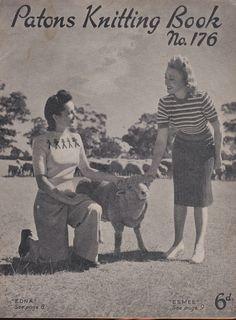 Vintage 1940s  Paton's Knitting Pattern No 176 by jennylouvintage
