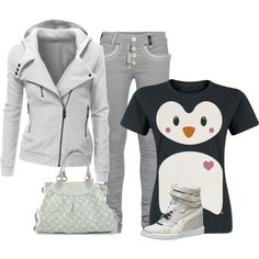 """""""cute penquin tee"""" by missy-smallen on Polyvore"""