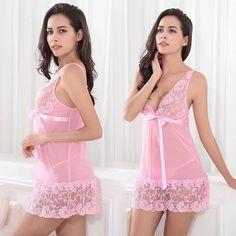 Babydoll Nightwear, Lace Babydoll, Babydoll Lingerie, Cute Lingerie, Lingerie Outfits, Women Lingerie, Lingerie Models, Lace Nightgown, Night Dress For Women