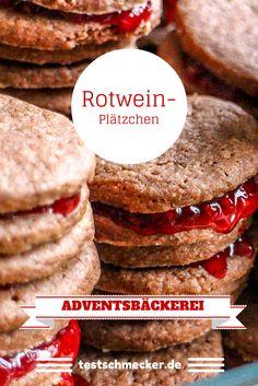 Adventsbäckerei auf testschmecker.de: Rotwein-Plätzchen