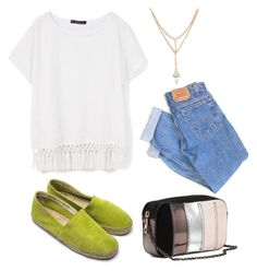 """""""Untitled #11051"""" by beatrizibelo ❤ liked on Polyvore featuring MANGO, Levi's and H&M"""