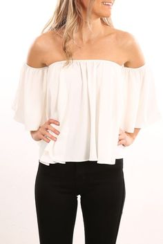 Sohpie Flutter Top White