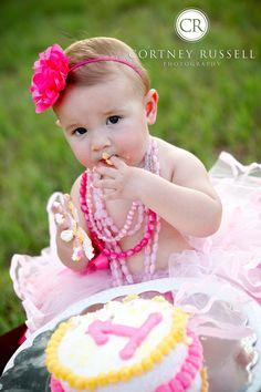 cortneyrussell.com cake smash birthday sweet pea childrens photography