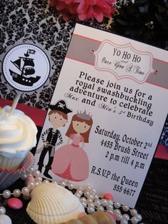 Princess and Pirate Birthday Party DIY by SimplySweetParties, $12.00