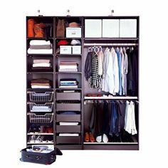 Dressing Pax à la carte à petit prix aménagé d'éléments intérieurs Komplement - IKEA