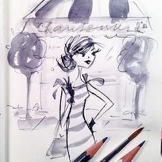 A messy little shoe shopping sketch. Cute Illustration, Graphic Design Illustration, Illustration Fashion, Fashion Illustrations, Watercolor Print, Watercolor Paintings, Face Art, Art Faces, Cat Art Print