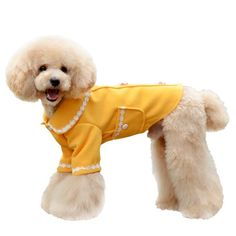 One Tail Four Paws Lace Up Peacoat Pet Coat Small Golden Yellow >>> You can find out more details at the link of the image.(This is an Amazon affiliate link and I receive a commission for the sales)