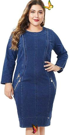 Women's Plus Size Long Sleeve Button Up V Neck Denim Casual Mini Jeans Dresses Women's Plus Size Long Sleeve Button Up V Neck Denim Casual Mini Jeans Dress. Women's Plus Size Tops Striped Raglan Tee Shirts Casual Tunics Blouses New Curvy And Plus Size Women Outfit For Summer 2020. plus size clothing and all trending fashions for chubby and curvy girls. best outfits for plus size | plus sized fashion | style plus size | plus size outfits | womens fashion plus size | outfits plus size… Plus Size Jeans, Plus Size Tops, Plus Size Women, Jean Outfits, Cool Outfits, Summer Outfits, Casual Shirts, Tee Shirts, Raglan Tee