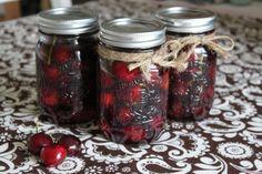 bourbon soaked cherries (using fresh cherries)