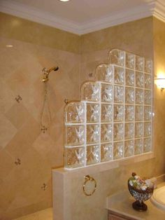 #Glass #Block #Bathroom by Ron Timpanaro http://www.rontimpanaro.com