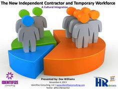 the-new-independent-contractors-and-temporary-workforce-a-cultural-integration by Dee Williams via Slideshare Lead Generation, Culture, Management, Business, Store, Business Illustration