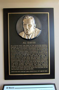 Al Davis's induction into the Bay Area Sports Hall of Fame in 2010.
