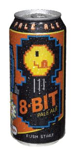 """A PAC-MAN on the can of 8-Bit Pale Ale, """"Named the Official Beer of Retro-Gamers"""" by TallGrass Brewing Co in Manhattan KS (www.tallgrassbeer.com)"""