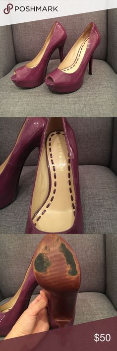 ⬇️⬇️Enzo Angiolini purple heels Pleather, light purple, peep toe heels in EXCELLENT condition! Only wore one time for my high school graduation and haven't come out of my closet since. They need someone to love them and use them! Only ware is on bottom of sole as pictured from walking outside. Zero scuffs or marks of any kind! Enzo Angiolini Shoes Heels