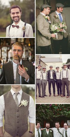 Ladies! Lest we forget the dashing groom and his men need to be dressed as well.