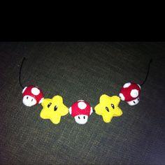 Crochet super Mario stars and mushroom