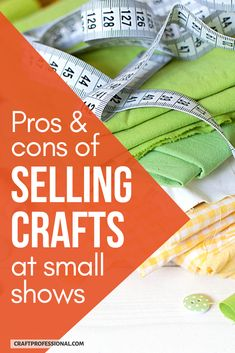 Want to start selling handmade items at small craft shows? Here are the pros and cons of small local craft fairs vs. larger art shows. #craftfair #sellinghandmade #craftprofessional Selling Crafts Online, Craft Online, Craft Business, Creative Business, Business Ideas, Crafts To Sell, Fun Crafts, Make And Sell, How To Make Money