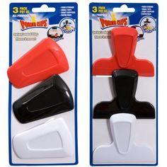 Power Clips Assorted Plastic Clips, 3-ct. Packs (Set of 2)
