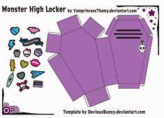 Monster High 3D Coffin. Free Printable.