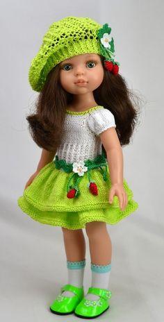 63 Ideas For Crochet Baby Outfits Girl Doll Dresses – Knitting Baby İdeas. Crochet Girls Dress Pattern, Knitted Doll Patterns, Crochet Baby Cardigan, Crochet Doll Dress, Doll Dress Patterns, Crochet Doll Clothes, Knitted Dolls, Baby Patterns, Ropa American Girl