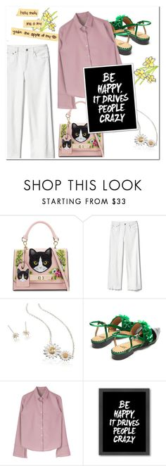 """""""#happyfaces2"""" by mojosoignee ❤ liked on Polyvore featuring ALDO, Gap, Daisy Jewellery, Toga and Americanflat"""