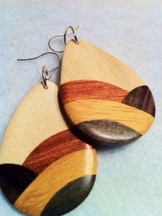 Wooden earrings Wooden Earrings, Earrings and Branches